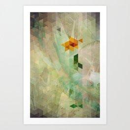 Triangle Design Farewell Art Print