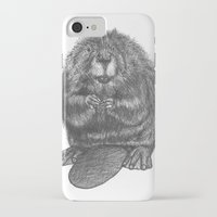 beaver iPhone & iPod Cases featuring Beaver by Nasir Nadzir