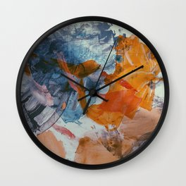 Brushstrokes Wall Clock