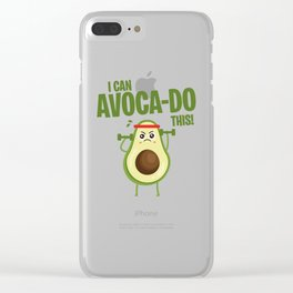 Avocado Fitness Superfood fruits sports joke gift Clear iPhone Case