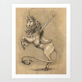 Merrylegs: The Carousel Horse Art Print