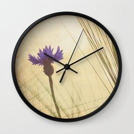 FLOWER Bluebottle Wall Clock