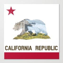 California Republic Landscape Flag Canvas Print