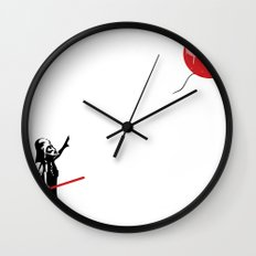 That's No Banksy Balloon (It's a Space Station) Wall Clock