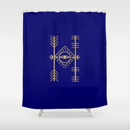 Sacred Geometry Letter H Shower Curtain