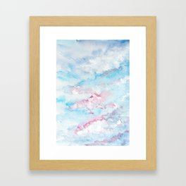 Pink and Blue Clouds . Sky Framed Art Print