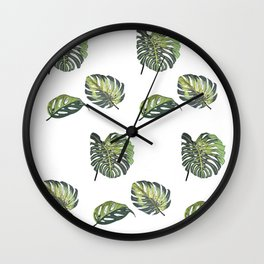 Monsteras Wall Clock