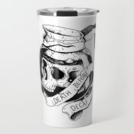 Death before decaf Travel Mug