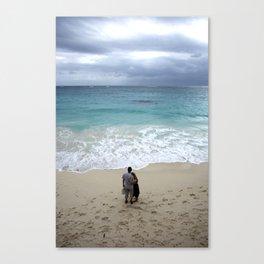 The blue sea Canvas Print