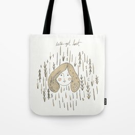 Wildwood Girl Pen and Ink and Watercolor Portrait Illustration Tote Bag