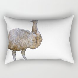 Amused Emu Rectangular Pillow