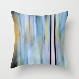 Buttery Lines (Abstract Blue) Throw Pillow