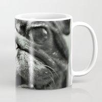 pug Mugs featuring Pug by Falko Follert Art-FF77