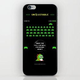 """unSuitable"" iPhone Skin"