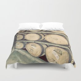 Kentucky Bourbon Barrels Color Photo Duvet Cover
