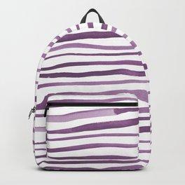 Irregular watercolor lines - ultra violet Backpack