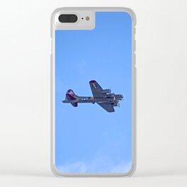 """""""B-17 - #38"""" with poem: God's Busy Clear iPhone Case"""