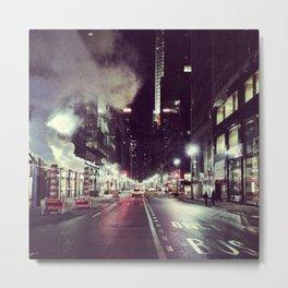 Manhattan Midtown at Night Metal Print