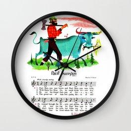 Paul Bunyan The Lumberjack, Canadian-American Folklore Hero Wall Clock