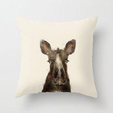 little moose Throw Pillow