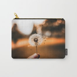 Gentle touch on a dandelion Carry-All Pouch