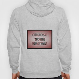 3D RED SCRATCHED TEXT Hoody