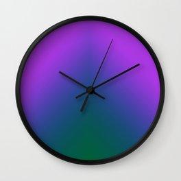 Plush Peacock Ombre Wall Clock