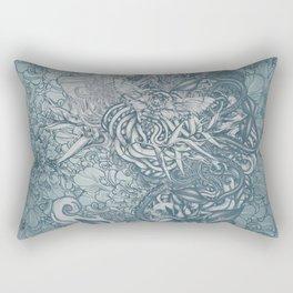 Fifth Mix Blue Rectangular Pillow