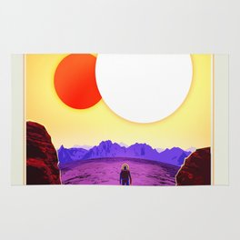 NASA Space Travel Retro Poster Kepler- 16B Rug