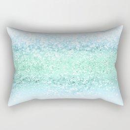 Aqua Seafoam Ocean Glitter #1 #shiny #pastel #decor #art #society6 Rectangular Pillow
