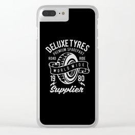 deluxe tyres premium sparepart Clear iPhone Case