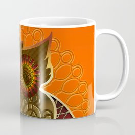 Ornament Eule - gold - orange Coffee Mug