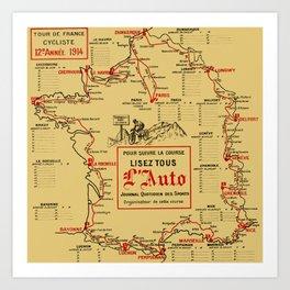 Tour De France 1914 Kunstdrucke