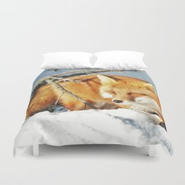 Algonquin Red Fox in the Snow Duvet Cover