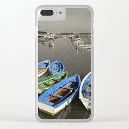 fishing boats, Santa Luzia, Portugal Clear iPhone Case
