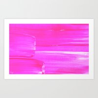 hot pink Art Prints featuring Hot PINK by HollyJonesEcu
