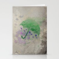 umbrella Stationery Cards featuring Umbrella by Badamg