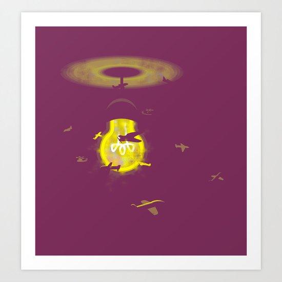 Around the Lamp Art Print