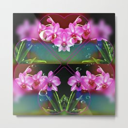 Charming Orchids Metal Print
