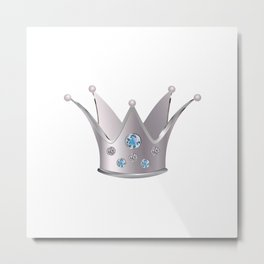 Silver crown Metal Print