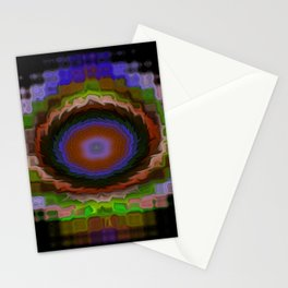 Stained Glass Fractals - I Stationery Cards