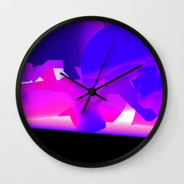 Purpleman Wall Clock