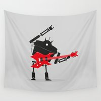 heavy metal Wall Tapestries featuring Heavy Metal by DWatson