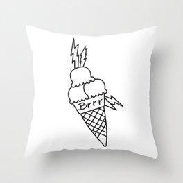 Ice Cream Tattoo Throw Pillow
