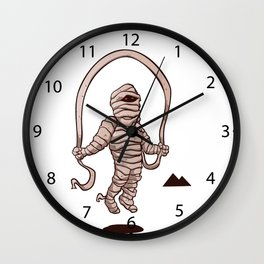 mummy jumping rope Wall Clock