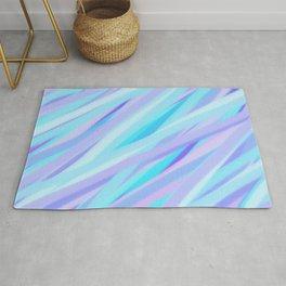 Pastel Pink, Purple, and Light Blue Stripes Rug