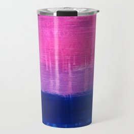 Bisexual Flag: abstract acrylic piece in pink, purple, and blue #pridemonth Travel Mug