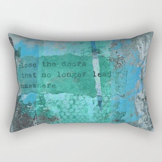 Close the door  Rectangular Pillow