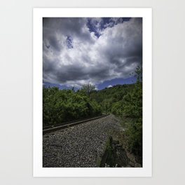 West Virginia Railroad Art Print