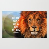 pocketfuel Area & Throw Rugs featuring BOLD AS LIONS by Pocket Fuel